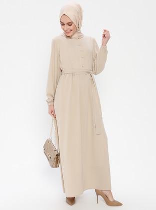 Minc - Fully Lined - Button Collar - Abaya
