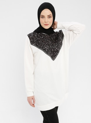 White - Multi - Crew neck - Tracksuit Top