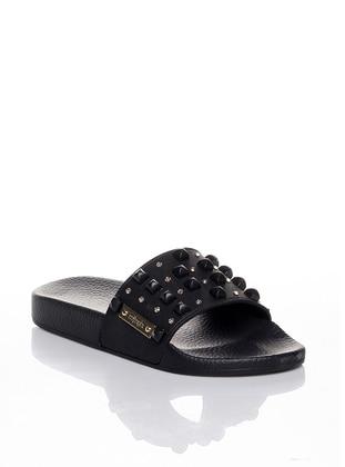 Black - Sandal - Slippers - Efem