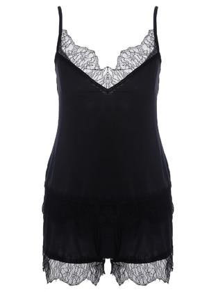 Black - Cotton - Short Set
