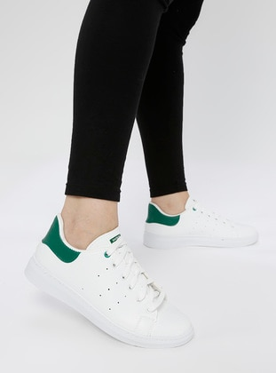 Green - White - Sport - Casual - Sports Shoes