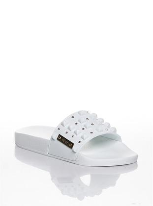 White - Sandal - Slippers - Efem