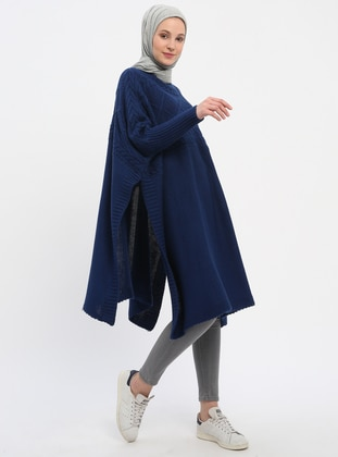 Saxe - Polo neck - Unlined - Acrylic -  - Poncho