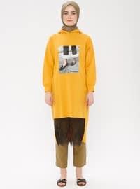 Yellow - Multi - Cotton - Tunic