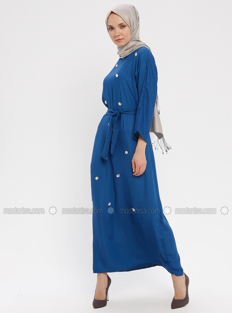 Indigo - Crew neck - Unlined - Dress