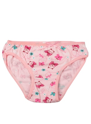 Pink - Multi - Girls` Underwear - Akbeniz Kids