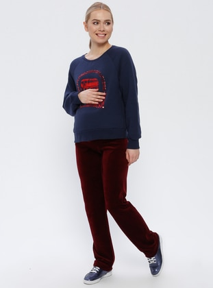Maroon - Maternity Pants