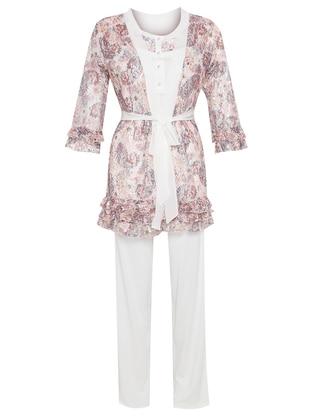 Ecru - Multi - Cotton - Pyjama