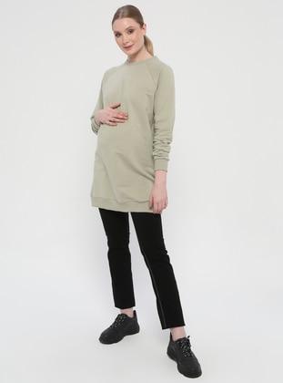 Black - Cotton - Maternity Pants - Gaiamom