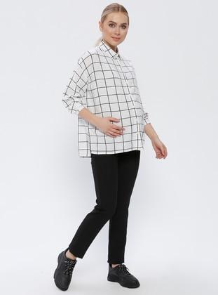 Black - Cotton - Maternity Pants