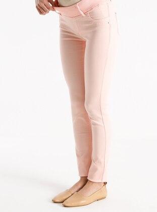 Salmon - Cotton - Maternity Pants