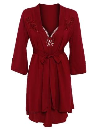 Maroon - Modal - Nightdress