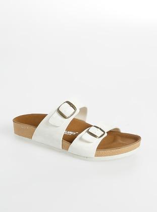 White - Ecru - Sandal - Sandal