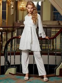 White - Ecru - Multi - Powder - Cream - Pyjama