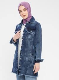 Blue - Unlined - Denim - Jacket