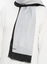 Black - Gray - Plain - Shawl