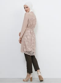 Mink - Crew neck - Viscose - Tunic