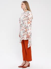 Terra Cotta - Floral - Unlined - Suit