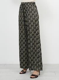 Black - Multi - Pants