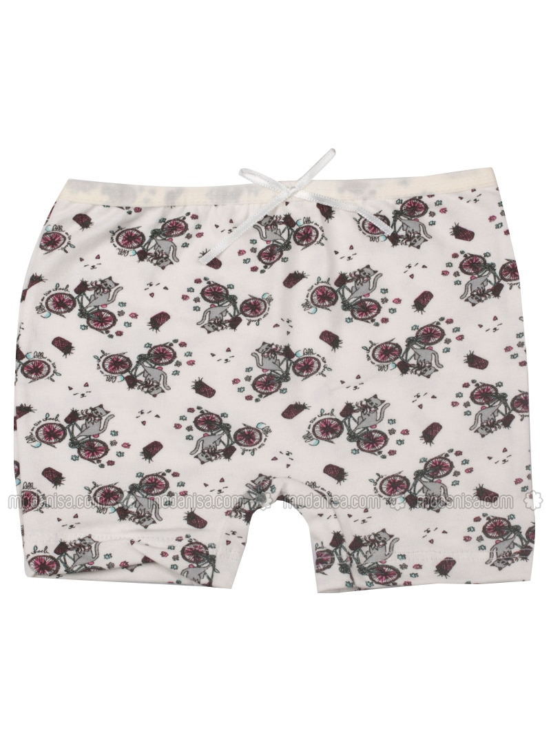 Ecru - Beige - Multi - Girls` Underwear