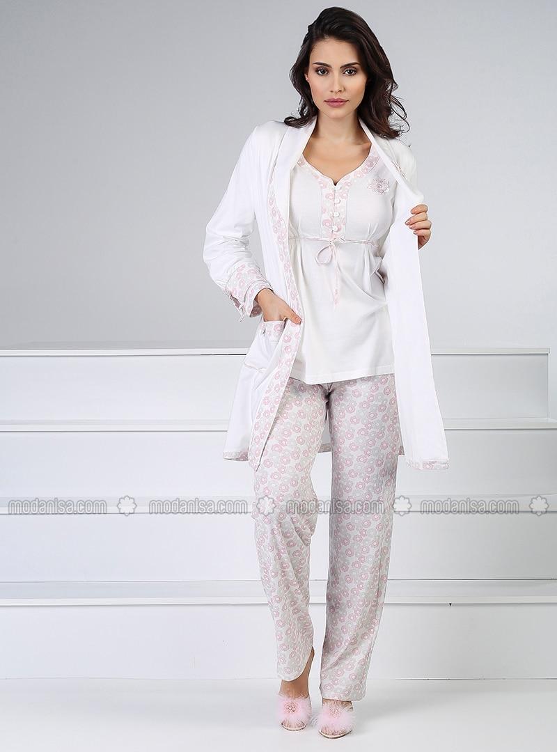 White - Multi - Powder - Pyjama