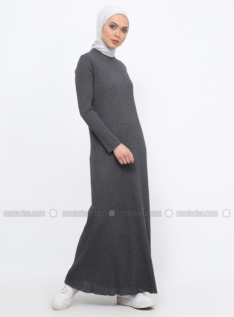 Smoke - Crew neck - Unlined - Dress