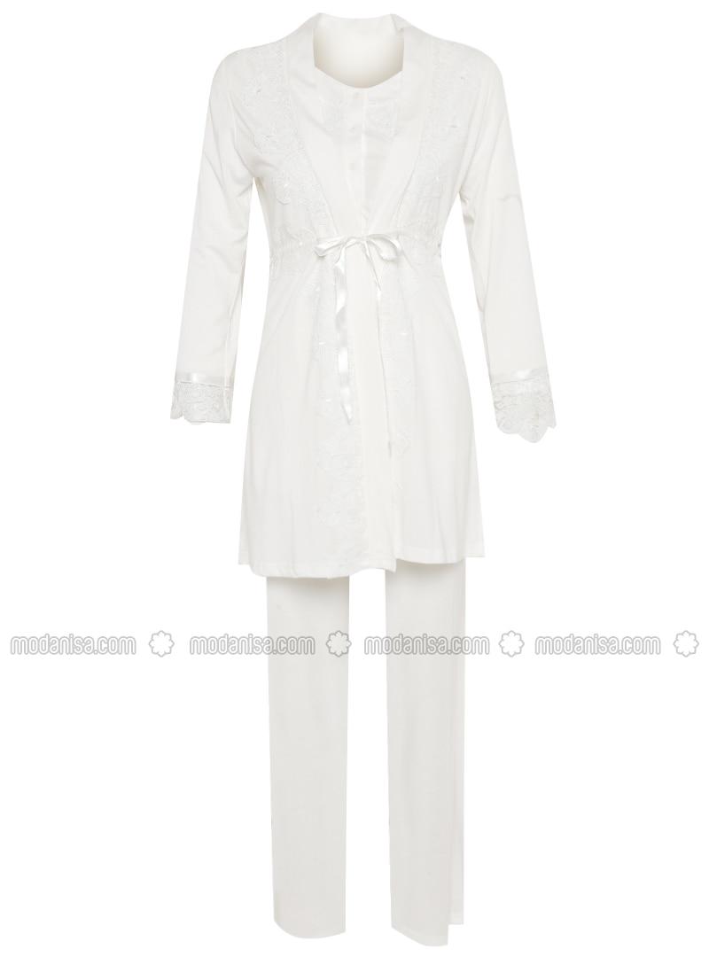 Ecru - Cotton - Pyjama