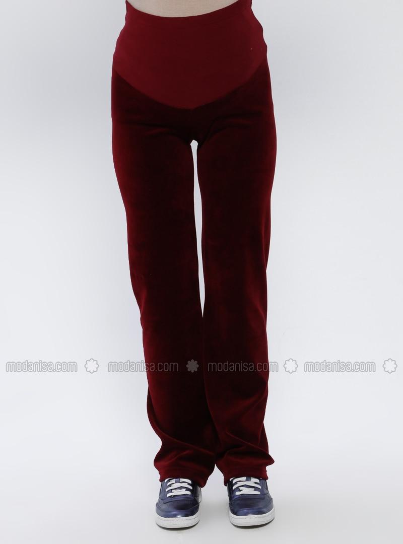Maroon - Maternity Pants