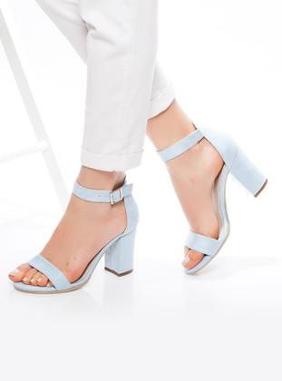 Blue - High Heel - Boots - Ayakkabı Havuzu