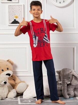 Red - Multi - Anthracite - Boys` Pyjamas