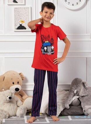 Red - Multi - Boys` Pyjamas