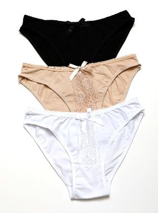 Black - White - Beige - Panties