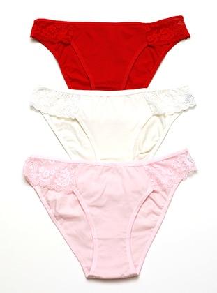 Red - White - Pink - Panties