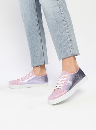 Silver tone - Lilac - Sport - Shoes