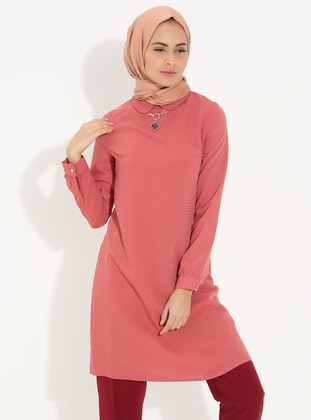 Dusty Rose - Round Collar - Cotton - Tunic