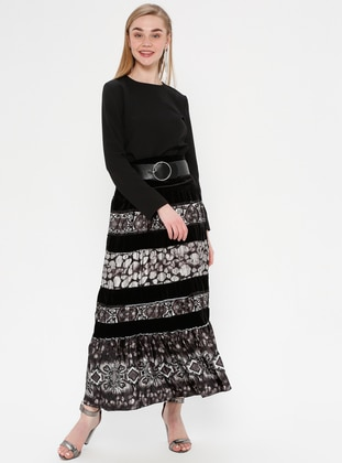 Black - Gray - Multi - Fully Lined - Skirt