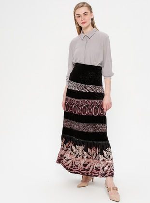 Black - Powder - Multi - Fully Lined - Skirt
