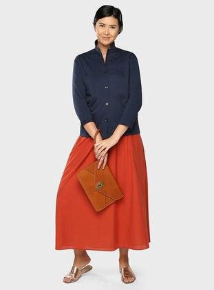 Terra Cotta - Fully Lined - Cotton - Skirt