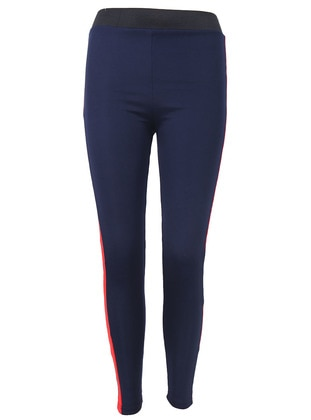 Red - Navy Blue - Legging