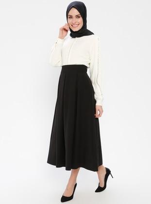 Black - Unlined - Skirt - BÜRÜN