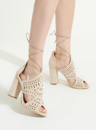 Cream - High Heel - Shoes