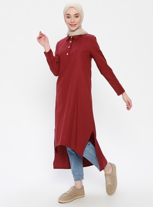 Maroon - Point Collar - Tunic