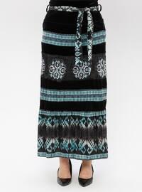 Black - Ethnic - Fully Lined - Skirt
