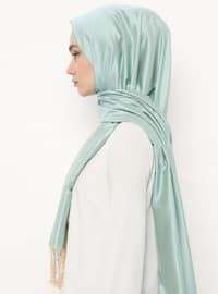 Cream -  - Plain - Fringe - %100 Silk - Shawl