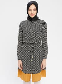 Mustard - Multi - Point Collar - Cotton - Tunic