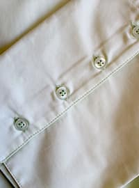 Green - Point Collar - Cotton - Blouses
