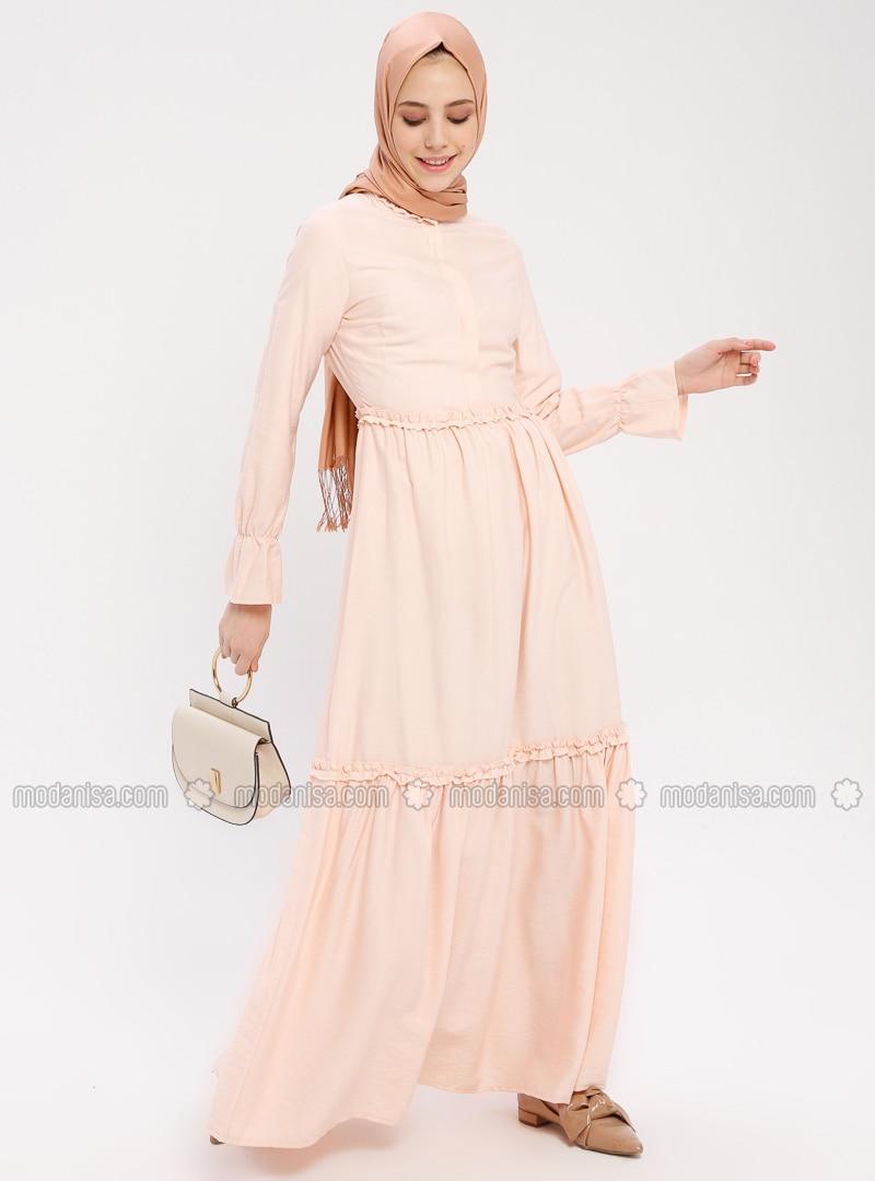 Powder - Button Collar - Unlined - Cotton - Dress