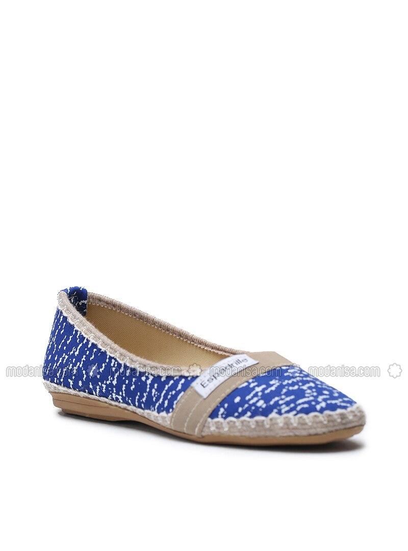 Blue - Flat - Flat Shoes