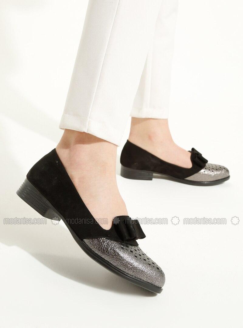 fe84c0e209 Black - Silver - Flat - Shoes. Fotoğrafı büyütmek için tıklayın