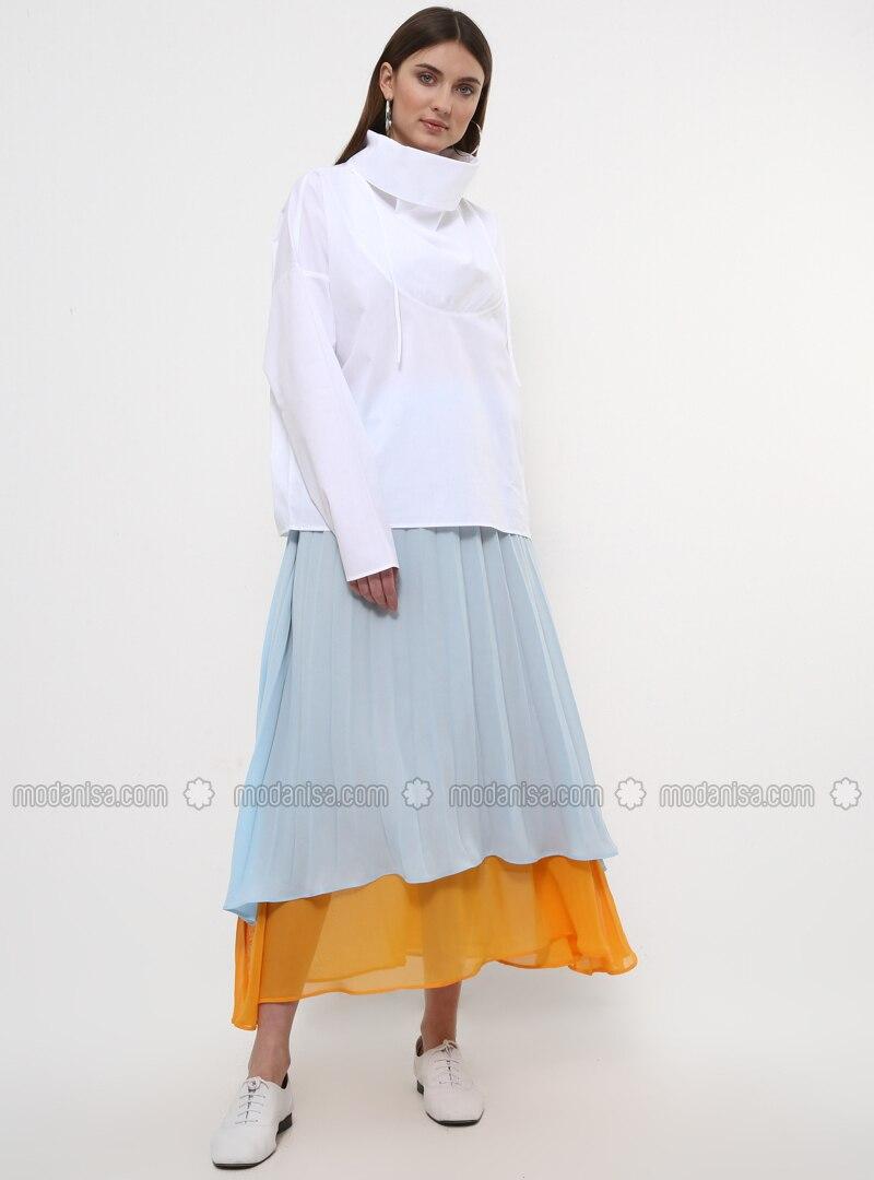 Mustard - Baby Blue - Fully Lined - Skirt